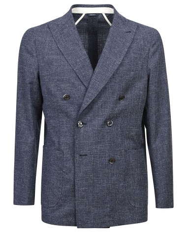DOUBLE BREASTED JACKET - BABY BLUE